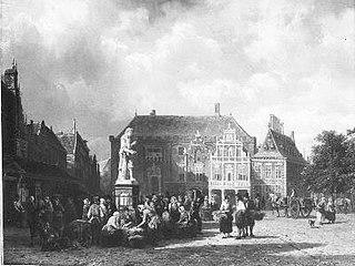 De markt te Haarlem