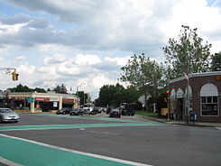 Corner of Highland, Great Plain and Dedham Avenues, Needham MA.jpg