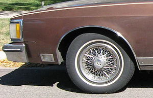 A cornering lamp on a 1983 Oldsmobile 98 Regency.