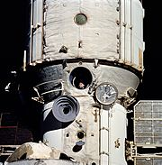 Cosmonaut Polyakov Watches Discovery's Rendezvous With Mir - GPN-2002-000078