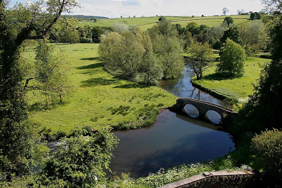 Countryside at Haddon Hall, Derbyshire