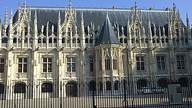 Gothic Facade Of The Parlement De Rouen In France Built Between 1499 And 1508 Which Later Inspired Neo Revival 19th Century