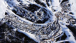 Courchevel Ski resort in France