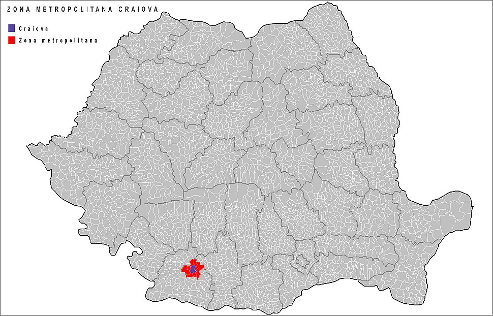 Craiova Metropolitan Area in Romania