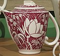 Creamer in 'Hawaiian Flowers' pattern, Vernon Kilns, designed by Don Blanding, 1938-42.JPG