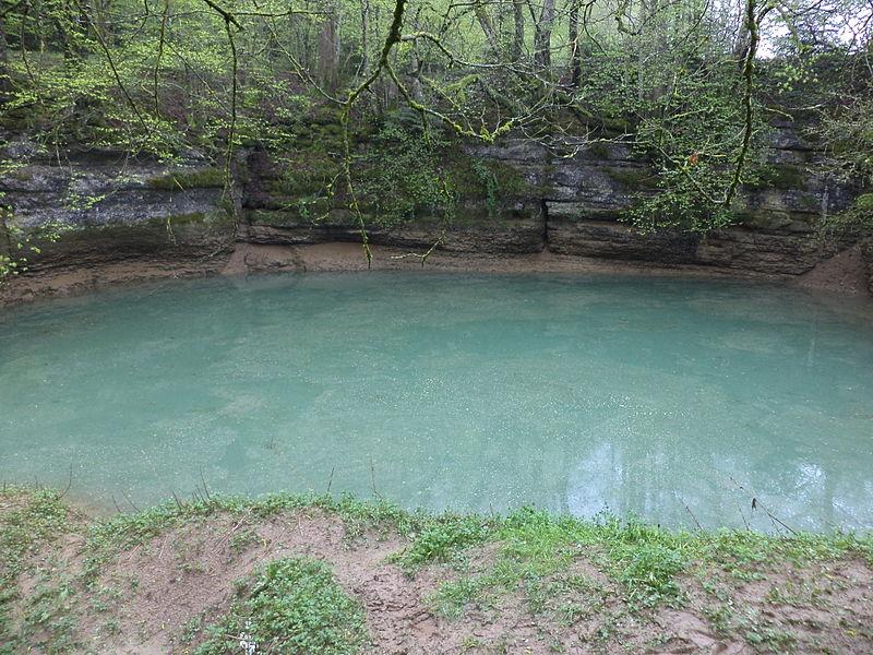 "The karst spring ""Creux-Genat"" (Witchhole) in Switzerland"