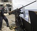 Crewmen mans Browning M2 aboard USS Lake Champlain (CG-57) on 2 February 2017.JPG