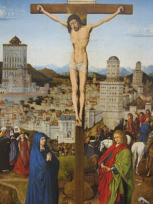 Crucifixion (after van Eyck?) - Crucifixion, 46 x 31cm. Ca' d'Oro, Venice