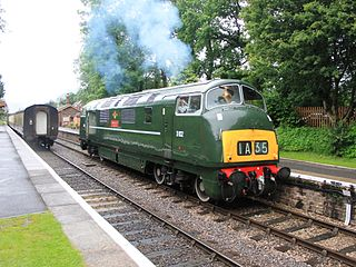 British Rail Class 42 class of 38 B′B′ 2270hp diesel-hydraulic locomotives, all named after warships