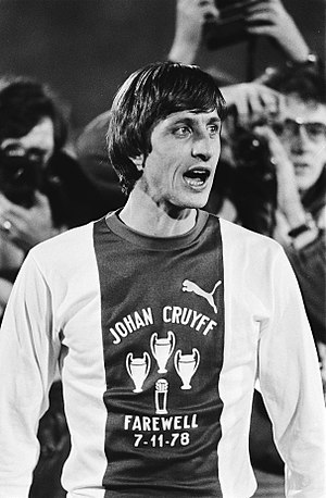 AFC Ajax - Johan Cruyff played at Ajax from 1959 to 1973, and from 1981 to 1983, winning 3 European Cups; his No. 14 is the only squad number Ajax has ever retired. Cruyff came back to manage the club from 1985 to 1988.