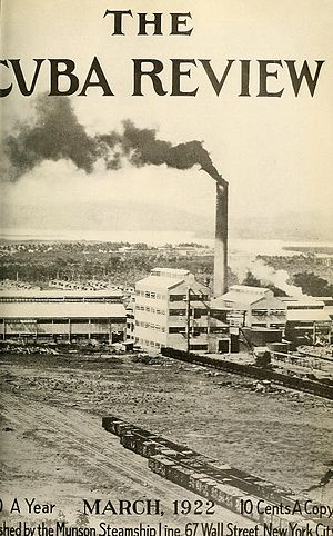 Agriculture in Cuba - Cuban sugar mill, ca. 1922.