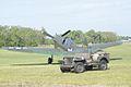 Curtiss TP-40N-40CU Warhawk LRear Jeep Mustang Meet FOF 17April2010 (14404022747).jpg
