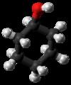 Cyclohexanol molecule ball from xtal.png