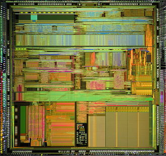 Cyrix Cx5x86 - A die shot of Cyrix 5x86.