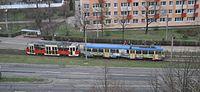 Częstochowa - 102Na and 105Na trams.jpg