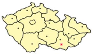 Dolní Věstonice (archaeology) - Location of Dolní Věstonice in the Czech Republic