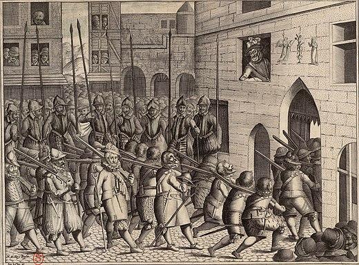 Départ des espagnols de Paris le 22 mars 1594 Musée Carnavalet