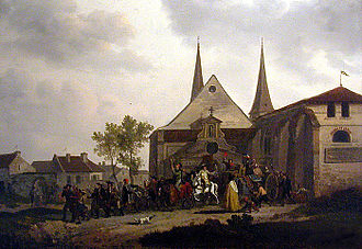Dechristianization of France during the French Revolution - Image: Désaffectation d'une église
