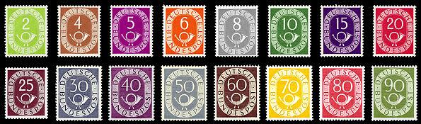 Briefmarken Jahrgang 1951 Der Deutschen Bundespost Wikipedia