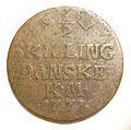 DENMARK, CHRISTIAN VII, 1771 -HALF SKILLING b - Flickr - woody1778a.jpg