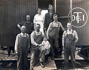 Detroit, Toledo and Ironton Railroad - Work Train, circa 1921
