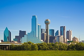 Downtown Dallas - View of Downtown Dallas from across the Trinity River