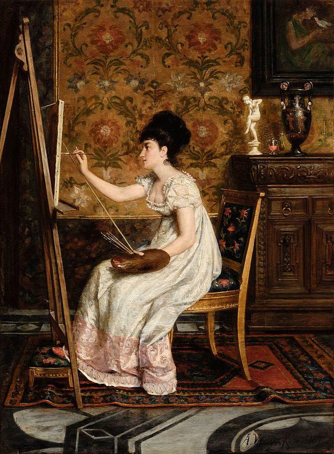 Dama pintando