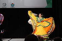 Dancing at the Wikimania 2015 Opening Ceremony IMG 7643.JPG