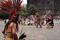 Danzantes en la Plaza de las Tres Culturas - Ciudad de México - Penacho.jpg