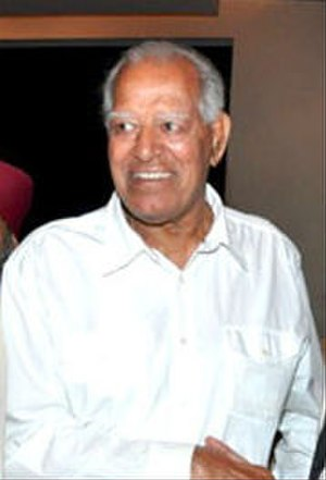 Dara Singh - Singh at Pran's birthday party in February 2010.