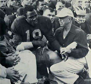 Dave Raimey - Raimey on Michigan sideline, Oct. 1962