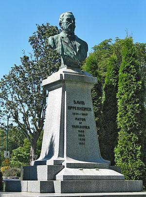 David Oppenheimer - David Oppenheimer statue at the entrance to Stanley Park