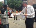 De Blasio at TWU Day of Action to Restore Station Booths & Agents (8972412917).jpg