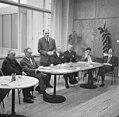 De GAK-zeskamp te Amsterdam Flohr, Botwinnik, van het Hull , Bouwmeester en Kuy, Bestanddeelnr 915-8361.jpg