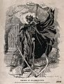 Death as a skeletal figure wielding a scythe; representing f Wellcome V0018753.jpg