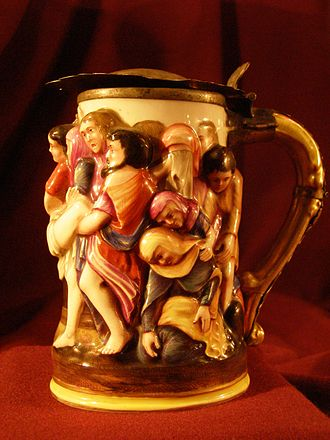 Beer in Poland - Hand-sculpted ceramic beer mug from Dębno, Poland