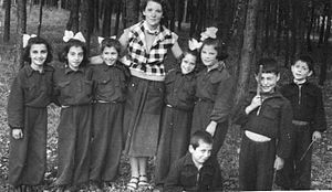 Refugees of the Greek Civil War - A group of Children refugee in Poland