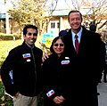 Delegate Sam Arora with his Mom and Governor O'Malley (5141390524).jpg