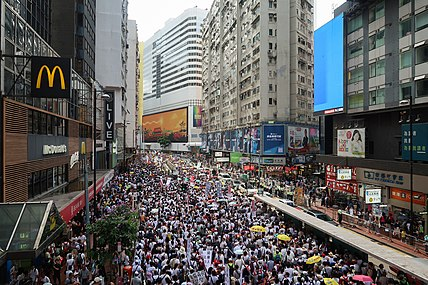 Demonstration in Yee Wo Street 20190609