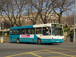 Plaxton Verde - Arriva North East Plaxton Verde bodied Dennis Lance in Bootle in April 2009