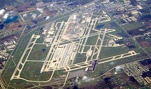 Northwest Airlines Flight 253 - An aerial view of Detroit Metropolitan Wayne County Airport