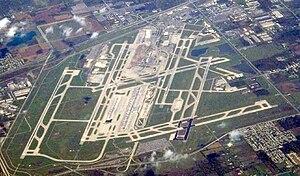 Northwest Airlines Flight 253 - An aerial view of Detroit Metropolitan Wayne County Airport
