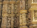Devi Jagdambi Temple Khajuraho - Outer Wall 05.JPG