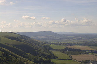 South Downs National Park - View of the South Downs from Devil's Dyke