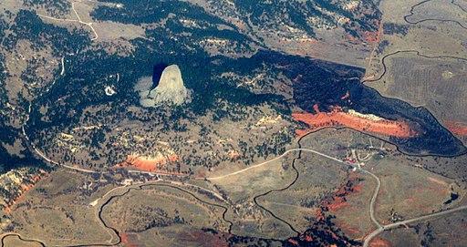 Devils Tower aerial