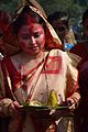 Devotee - Durga Idol Immersion Ceremony - Baja Kadamtala Ghat - Kolkata 2012-10-24 1409.JPG