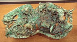 Dian Kingdom - Bronze sculpture of the Dian Kingdom (felines attacking an ox), 3rd century BCE, Yunnan, China.