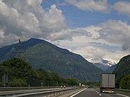 Die Autobahn in der Schweiz