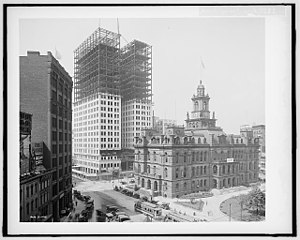 Chrysler House - Image: Dime Building construction