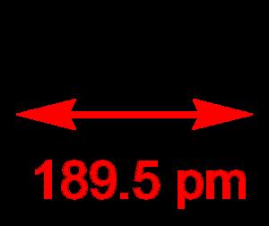 Diphosphorus - Image: Diphosphorus 2D dimensions